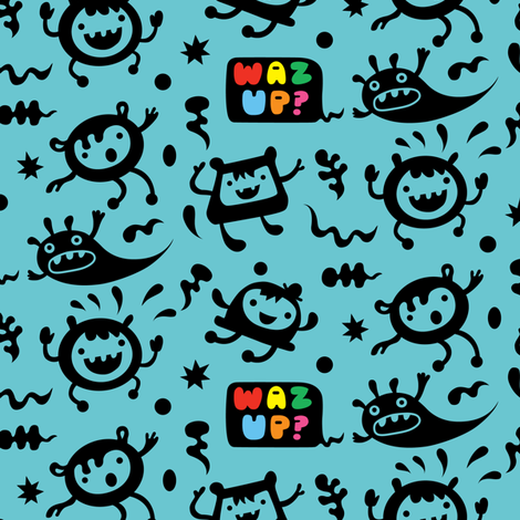 Waz Up? fabric by andibird on Spoonflower - custom fabric