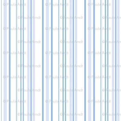 Hampton Stripes in Pale Blueberry Blue