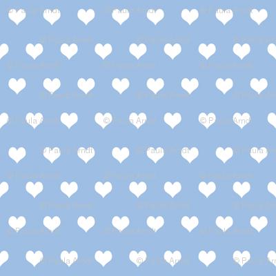 Swedish Folk Hearts in Pale Blueberry Blue