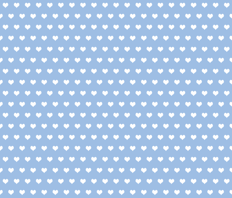 Swedish Folk Hearts in Pale Blueberry Blue fabric by lilyoake on Spoonflower - custom fabric