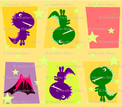 Cute Mod Dinos Yellow