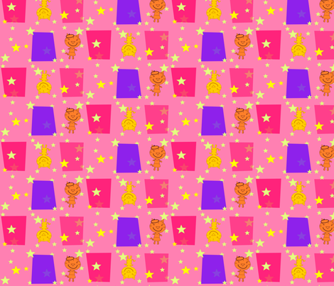 Bonjour Mod Tigers Pink fabric by heathermann on Spoonflower - custom fabric