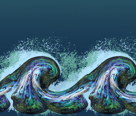 abalone wave fabric by bad_wolf_clothier on Spoonflower - custom fabric