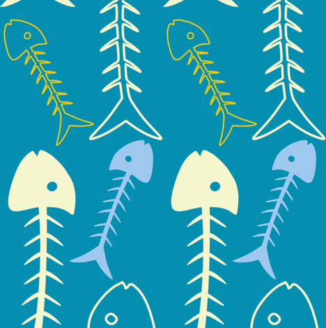 fishbone fabric by lauredesigns on Spoonflower - custom fabric