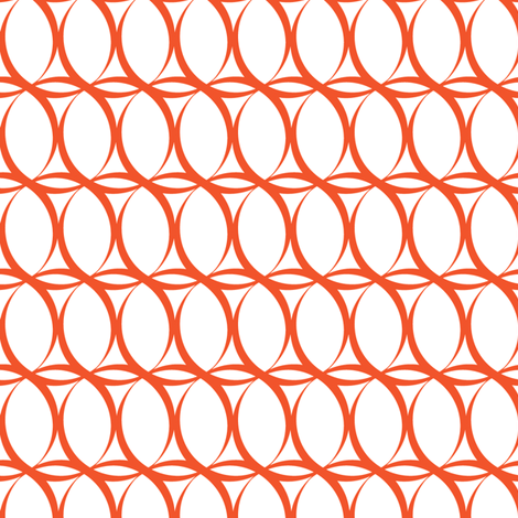 Loopy_Tangerine fabric by fridabarlow on Spoonflower - custom fabric