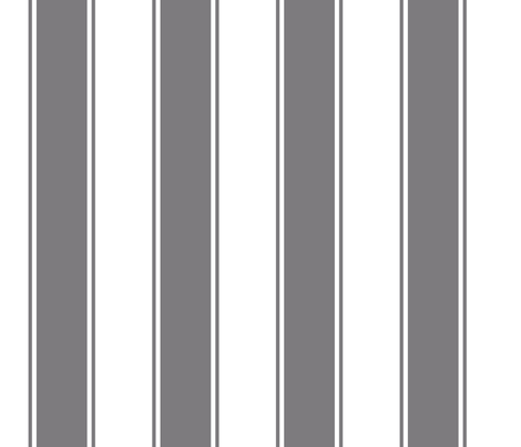 Fat Stripes Cabana in Gray fabric by fridabarlow on Spoonflower - custom fabric