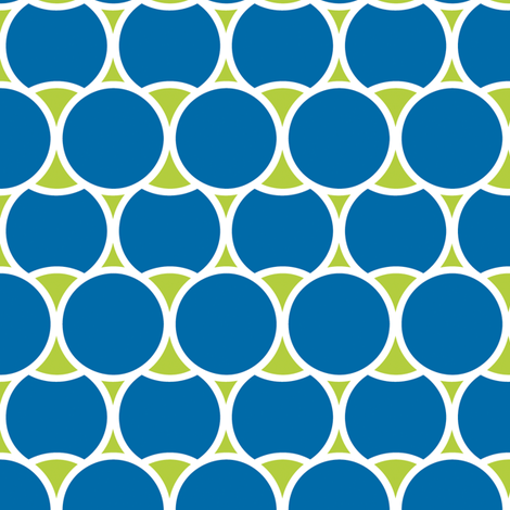 Modern_Blue_Circles fabric by fridabarlow on Spoonflower - custom fabric