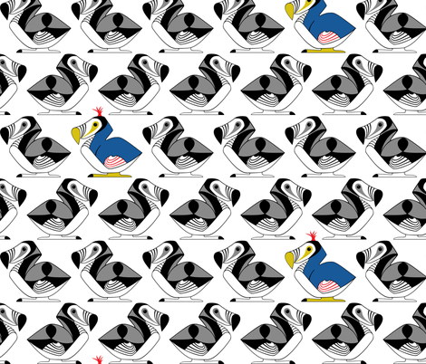 Dodo Bird fabric by ttoz on Spoonflower - custom fabric