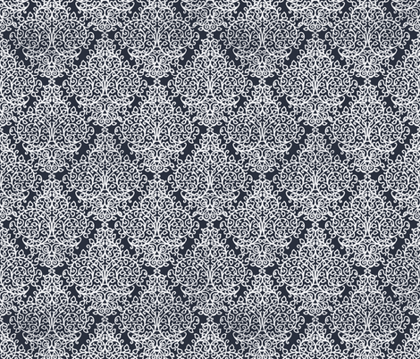 Marrakech Night navy fabric by flyingfish on Spoonflower - custom fabric