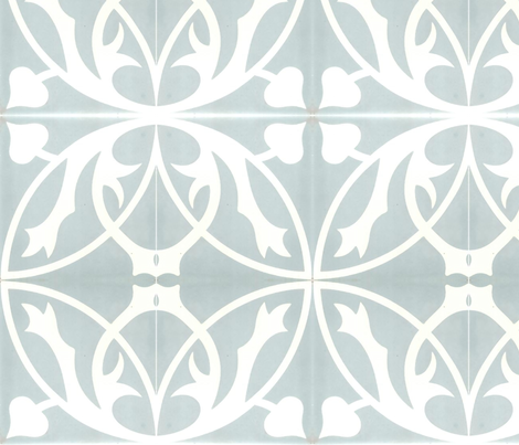 Through The Lattice blue fabric by flyingfish on Spoonflower - custom fabric