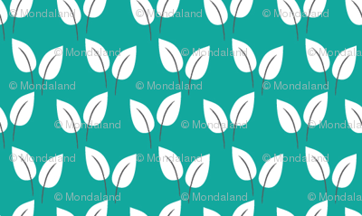 Leaves (Teal)