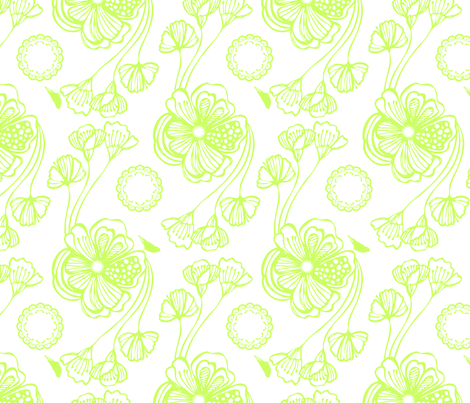 Sugar (green) fabric by pattern_bakery on Spoonflower - custom fabric