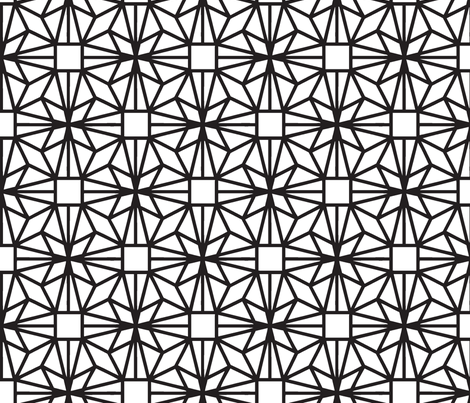 Diamond (black) fabric by pattern_bakery on Spoonflower - custom fabric