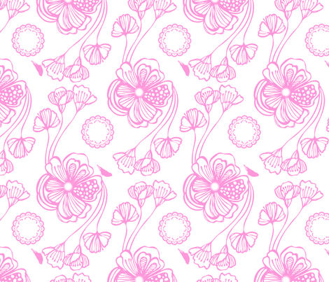 Sugar (pink) fabric by pattern_bakery on Spoonflower - custom fabric
