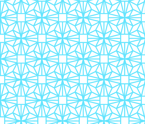 Diamond (turquoise) fabric by pattern_bakery on Spoonflower - custom fabric