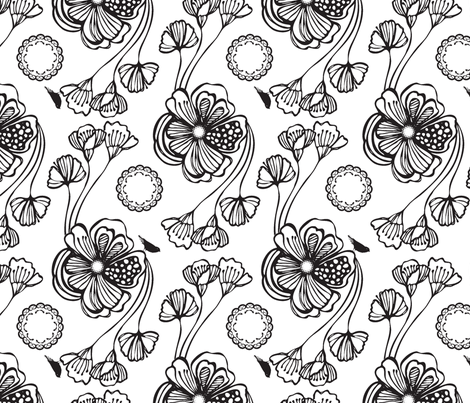 Sugar (black) fabric by pattern_bakery on Spoonflower - custom fabric
