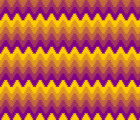 jagged zigzag fabric by sef on Spoonflower - custom fabric