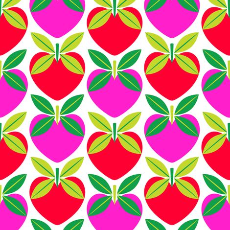 Love Apples fabric by nekineko on Spoonflower - custom fabric
