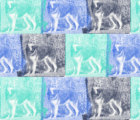 German shepherd shadows fabric by dogdaze_ on Spoonflower - custom fabric