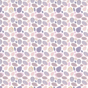 Muted Pink with Mauve Seashells Design