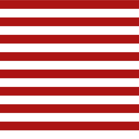 Half-Inch Stripes in Red and White