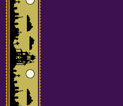 Jewel Graveyard Border in Plum