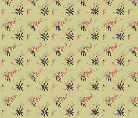 Atomic Age Floral - 1 fabric by babydobbins on Spoonflower - custom fabric