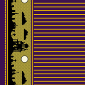 Jewel Graveyard Striped Border in Plum