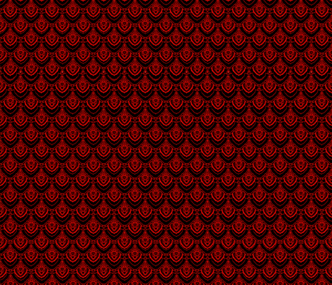 Red small dragon scales fabric by whimzwhirled on Spoonflower - custom fabric