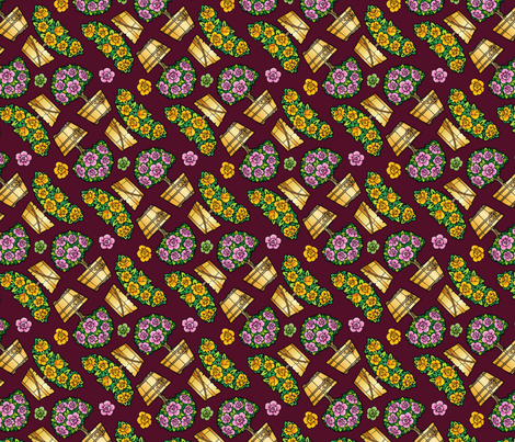 rose trees fabric by hannafate on Spoonflower - custom fabric