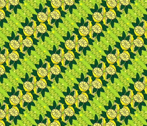 lemon fresh chartreuse! fabric by hannafate on Spoonflower - custom fabric