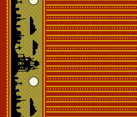 Jewel Graveyard Dot-Striped Border in Sanguine