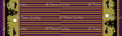 Jewel Graveyard Dot-Striped Border in Plum