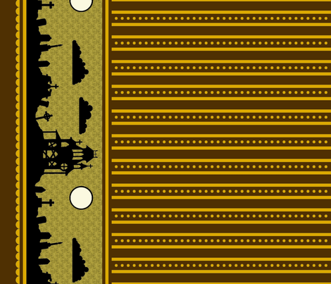 Jewel Graveyard Dot-Striped Border in Espresso
