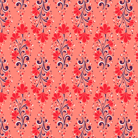 Calais - Flower fabric by siya on Spoonflower - custom fabric