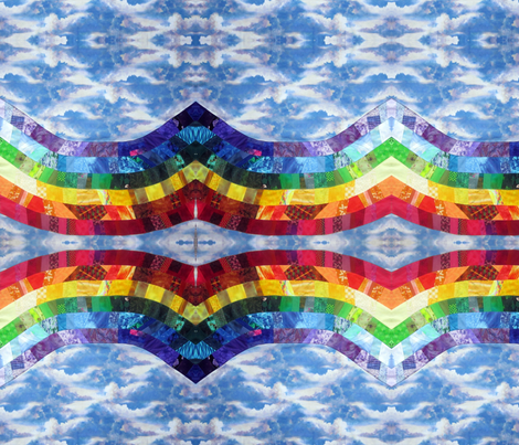 Rainbow_Fractal_Fat Quarter fabric by tree_of_life on Spoonflower - custom fabric