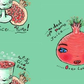 pomegranate summer drink recipe