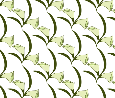 Deco Calla Lily fabric by holly_helgeson on Spoonflower - custom fabric