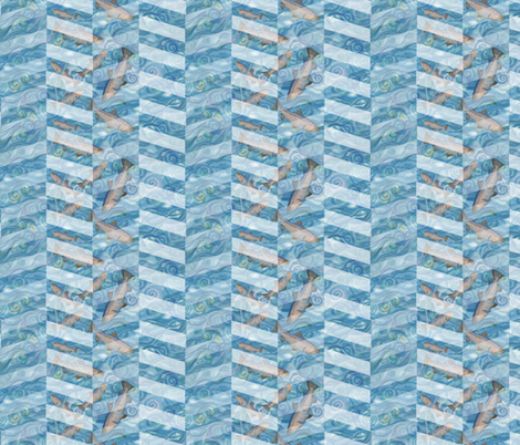 FiShevron pattern 2 fabric by twobloom on Spoonflower - custom fabric