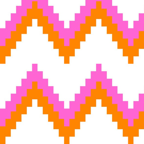 Pink and Orange Chevron