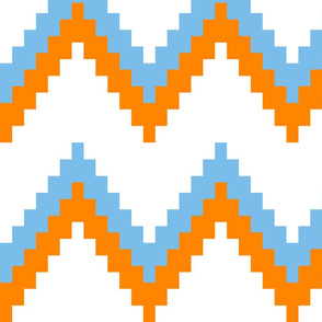 Sky and Orange Chevron