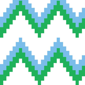 Sky and Green Chevron