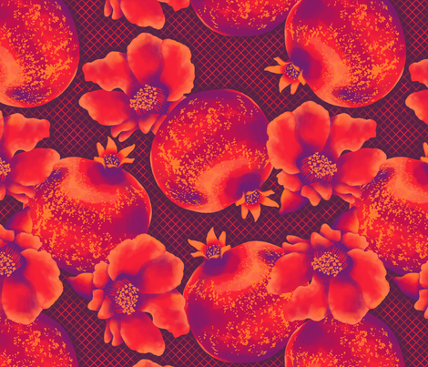 Calais - Pomegranate fabric by siya on Spoonflower - custom fabric