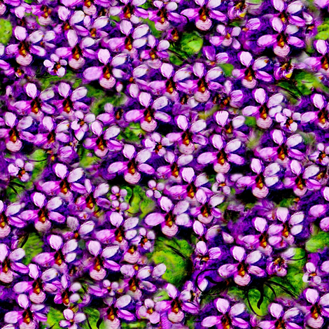 Meadow of Violets fabric by paragonstudios on Spoonflower - custom fabric