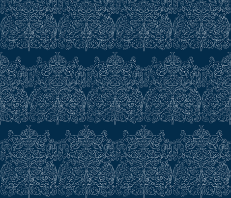 Midnight Arabesque fabric by flyingfish on Spoonflower - custom fabric