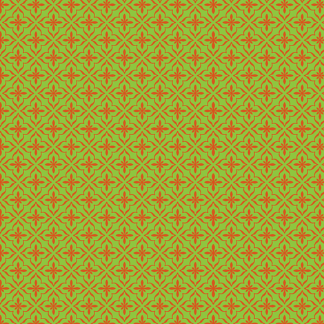 Star of Morocco melon fabric by flyingfish on Spoonflower - custom fabric