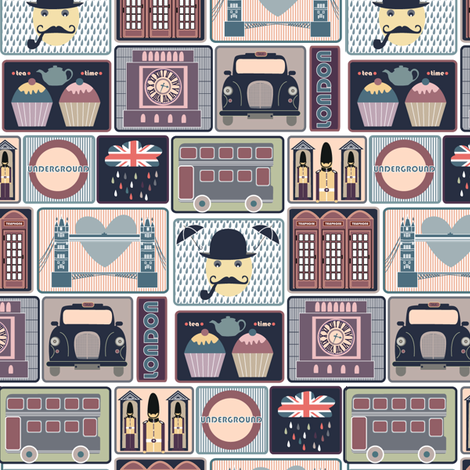 London fabric by demigoutte on Spoonflower - custom fabric