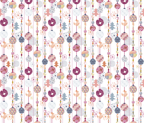 Bohemian Christmas 2 fabric by demigoutte on Spoonflower - custom fabric