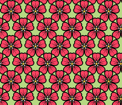 Periwinkle_red fabric by adranre on Spoonflower - custom fabric