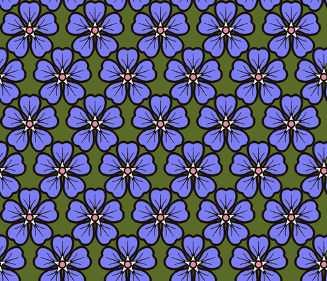 Periwinkle_lilac fabric by adranre on Spoonflower - custom fabric